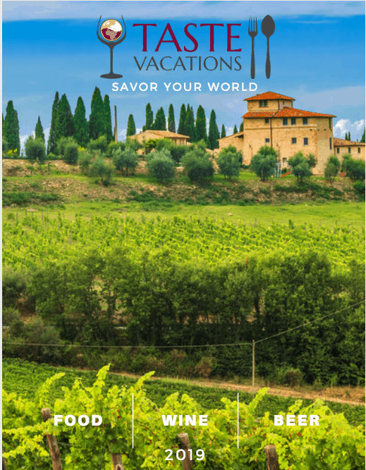 Taste Vacations Tour Catalog Cover